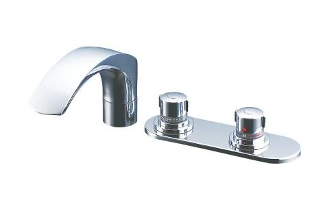 【最安値挑戦中!最大34倍】水栓金具 INAX BF-X195TR バス水栓 デッキタイプ サーモスタット 逆止弁付 湿式工法 一般地 [□]