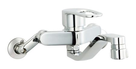 【最安値挑戦中!最大34倍】水栓金具 INAX SF-WM433SYN キッチン用 壁付 クロマーレS(エコハンドル) シャワー付 寒冷地 [□]