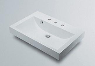 【最安値挑戦中!最大25倍】洗面所 カクダイ 493-071-750 角型洗面器(3ホール) [♪■]