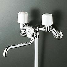 【最安値挑戦中!最大34倍】シャワー水栓 KVK KF100N2 一時止水付2ハンドルシャワー