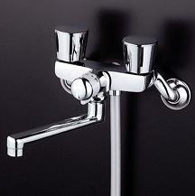 【最安値挑戦中!最大23倍】シャワー水栓 KVK KF141WEX 一時止水付2ハンドルシャワー 寒冷地用 メタリックホース メタルヘッド仕様