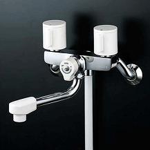 【最安値挑戦中!最大25倍】シャワー水栓 KVK KF2G3R24 2ハンドルシャワー 240mmパイプ付