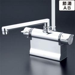 【最安値挑戦中!最大34倍】シャワー水栓 KVK KF3011TS2 浴室シャワー水栓 可変ピッチ式 デッキ形サーモスタット式シャワー 190mmパイプ仕様