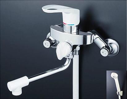 【最安値挑戦中!最大23倍】シャワー水栓 KVK KF5000W シングルレバー式シャワー