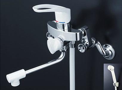 【最安値挑戦中!最大34倍】シャワー水栓 KVK KF5000WU 取替用シングルレバー式シャワー 寒冷地用