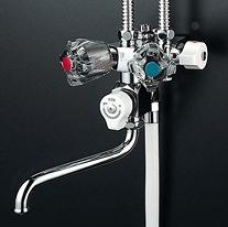 【最安値挑戦中!最大25倍】シャワー水栓 KVK KF50NC ソーラー2ハンドルシャワー 専用形