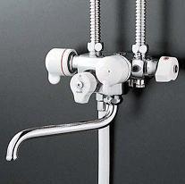 【最安値挑戦中!最大25倍】シャワー水栓 KVK KF63 ソーラー2ハンドルシャワー 専用形 型3構造