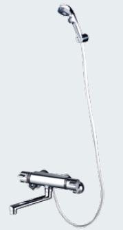 【最安値挑戦中!最大34倍】水栓金具 KVK KF800TES サーモスタット式シャワー