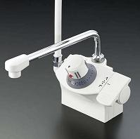 【最安値挑戦中!最大34倍】シャワー水栓 KVK KF821R デッキ形サーモスタット式シャワー シャワー左側 [〒]