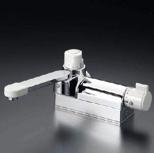 【最安値挑戦中!最大34倍】混合栓 KVK KM298G お湯ぴた デッキ形定量止水付サーモスタット式混合栓