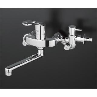 【最安値挑戦中!最大34倍】混合栓 KVK KM5000CHTTU シングルレバー式混合栓 給水給湯接続タイプ 分岐止水栓付