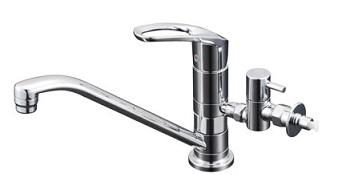【最安値挑戦中!最大25倍】水栓 KVK KM5011ZUTTU マルチリフォーム水栓 給水 給湯接続 シングルレバー式混合栓 寒冷地用
