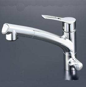 【最安値挑戦中!最大34倍】混合栓 KVK KM5061NSC 浄水器付シングルレバー式シャワー付混合栓