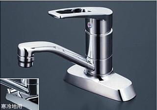 【最安値挑戦中!最大34倍】混合栓 KVK KM7004T 洗面用シングルレバー式混合栓