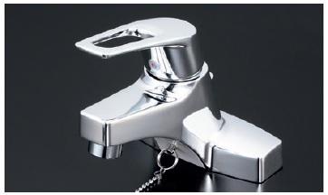 【最安値挑戦中!最大23倍】シングルレバー KVK KM7014T 洗面化粧室 洗面用シングルレバー式混合栓・ゴム栓付