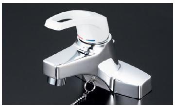 【最安値挑戦中!最大34倍】シングルレバー KVK KM7014T2 洗面化粧室 洗面用シングルレバー式混合栓・ゴム栓付