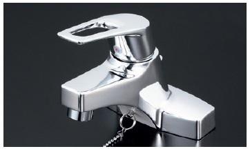 【最安値挑戦中!最大23倍】シングルレバー KVK KM7014ZT 洗面化粧室 洗面用シングルレバー式混合栓・ゴム栓付