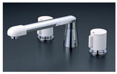 【最安値挑戦中!最大34倍】バス水栓(2ハンドル) KVK KM82GTLCU 浴室 2ハンドル混合栓(ナット接続)