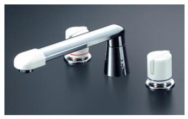 【最安値挑戦中!最大24倍】バス水栓(2ハンドル) KVK KM83CU 浴室 2ハンドル混合栓(ナット接続)