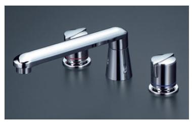 【最安値挑戦中!最大24倍】バス水栓(2ハンドル) KVK KM83GCU 浴室 2ハンドル混合栓(ナット接続)