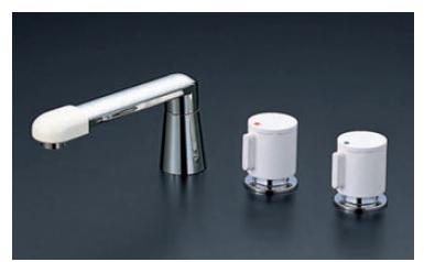 【最安値挑戦中!最大23倍】バス水栓(2ハンドル) KVK KM87GTL 浴室 2ハンドル混合栓(ユニオン接続)