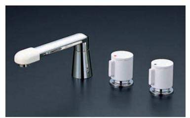 【最安値挑戦中!最大34倍】バス水栓(2ハンドル) KVK KM87GTLCU 浴室 2ハンドル混合栓(ナット接続)