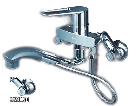 【最安値挑戦中!最大34倍】KVK FSK110KZSFT シングルレバー式シャワー付混合栓 オープンホース式 寒冷地用