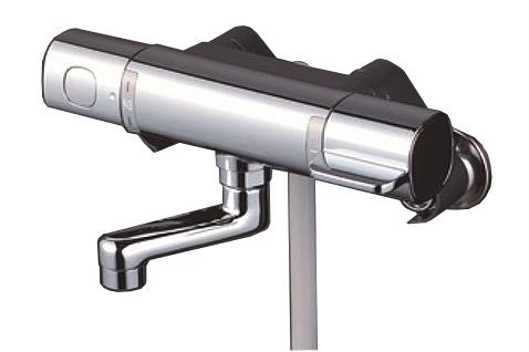 【最大44倍スーパーセール】KVK FTB100KR8T サーモスタット式シャワー 80mmパイプ付
