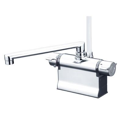【最安値挑戦中!最大25倍】シャワー水栓 KVK KF3011TR2 浴室シャワー水栓 可変ピッチ式 デッキ形サーモスタット式シャワー 240mmパイプ仕様