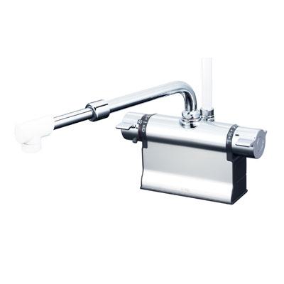 【最安値挑戦中!最大25倍】シャワー水栓 KVK KF3011TSJ デッキ形サーモスタット式シャワー 伸縮自在パイプ付