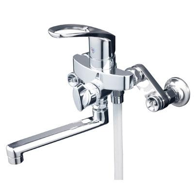 【最安値挑戦中!最大25倍】シャワー水栓 KVK KF5000THA シングルレバー式シャワー 楽締め水栓