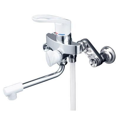 【最安値挑戦中!最大25倍】シャワー水栓 KVK KF5000ZHA シングルレバー式シャワー 楽締め水栓 寒冷地用