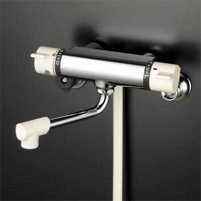 【最安値挑戦中!最大25倍】KVK KF800R2S2 サーモスタット式シャワー・ワンストップシャワー付(240mmパイプ付)