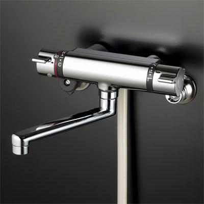 【最安値挑戦中!最大25倍】KVK KF800TR3S2 サーモスタット式シャワー・ワンストップシャワー付(300mmパイプ付)