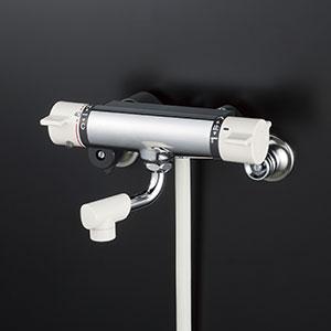 【最安値挑戦中!最大25倍】水栓金具 KVK KF800WNYS2 サーモスタット式シャワー(最高出湯温度規制) 寒冷地用