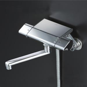 【最安値挑戦中!最大25倍】KVK KF850R2 サーモスタット式シャワー(240mmパイプ付)