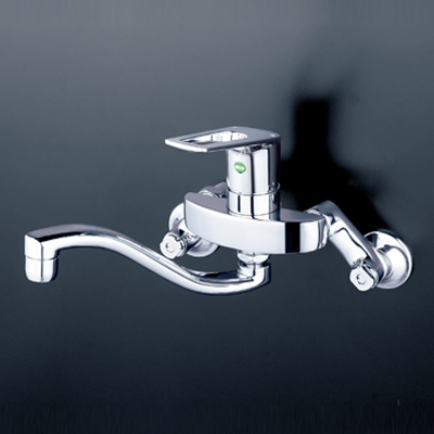 【最安値挑戦中!最大25倍】水栓金具 KVK KM5000THEC シングルレバー式混合栓