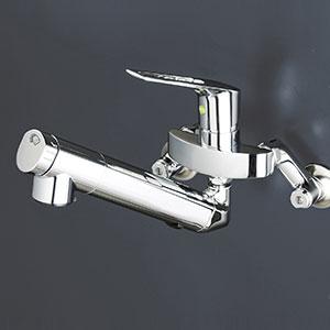【最大44倍お買い物マラソン】水栓金具 KVK KM5001NEC 壁付浄水器内蔵シングルレバー式混合栓(eレバー)