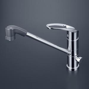 【最安値挑戦中!最大25倍】KVK KM5041CTF 流し台用シングルレバー式シャワー付混合栓