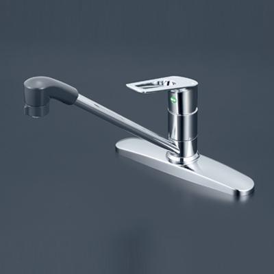 【最大44倍スーパーセール】水栓金具 KVK KM5091ZTFEC 流し台用シングルレバー式シャワー付混合栓 寒冷地