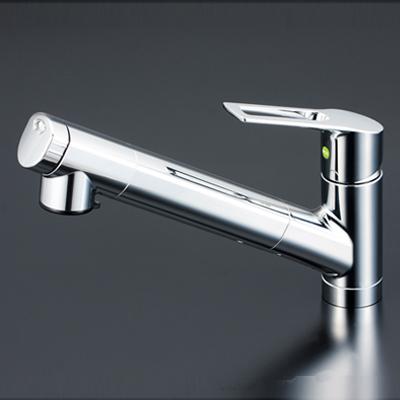【最安値挑戦中!最大25倍】水栓金具 KVK KM6001EC 浄水器内蔵シングルレバー式シャワー付混合栓