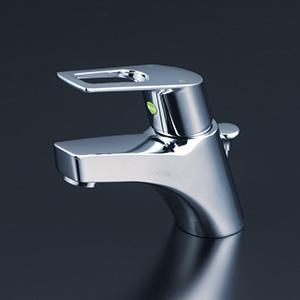 【最安値挑戦中!最大34倍】水栓金具 KVK KM7001THPEC 洗面用シングルレバー式混合栓 ポップアップ式