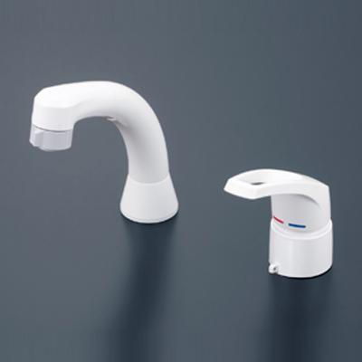 【最安値挑戦中!最大25倍】水栓金具 KVK KM8007ZCN シングルレバー式洗髪シャワー ヒートン付 寒冷地