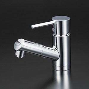 【最安値挑戦中!最大25倍】水栓金具 KVK KM8021T 洗面用シングルレバー式混合栓