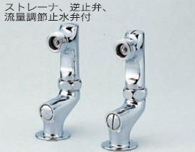 【最安値挑戦中!最大34倍】水栓部品 KVK ZKM60KTS 立形ソケットセット(2コ1セット)(接続部外ネジ・陶器用)