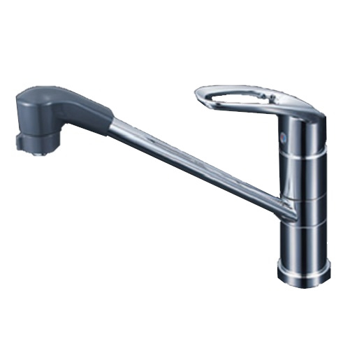 【最大44倍お買い物マラソン】KVK KM5151TF 流し台用シングルレバー式シャワー付混合栓 止水栓付