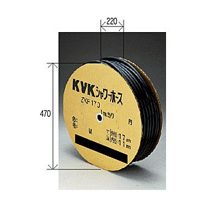 【最安値挑戦中!最大23倍】水栓部材 KVK ZKF170S-25 シャワーホース黒25m