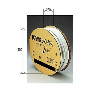 【最安値挑戦中!最大34倍】水栓部材 KVK ZKF170SSI-50 シャワーホース白50m