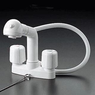 【最安値挑戦中!最大23倍】洗髪シャワー KVK KF64 2ハンドル洗髪シャワー ゴム栓付