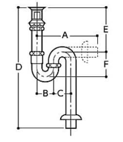 【最安値挑戦中!最大24倍】水栓金具 TOTO T7SW6 洗面器用排水金具 32mm ワンプッシュ式専用排水金具(Sトラップ) 大口径 [■]
